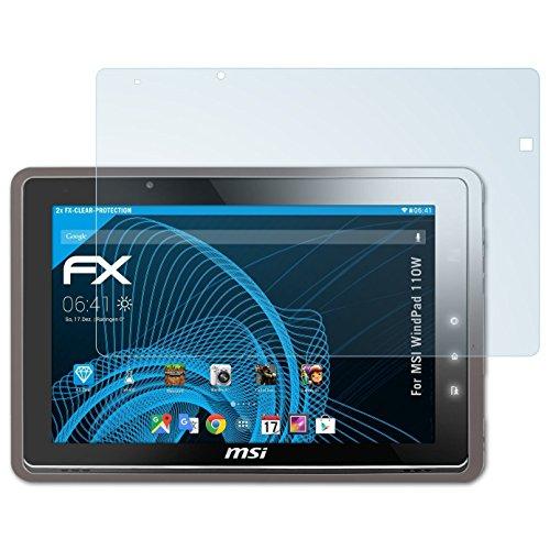 atFolix Schutzfolie kompatibel mit MSI WindPad 110W Folie, ultraklare FX Bildschirmschutzfolie (2X)