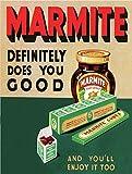 Marmite der tut Ihnen Good Schild/Plakette Retro Vintage Stil Metall Zinn Wandplakette Neuheit Geschenk