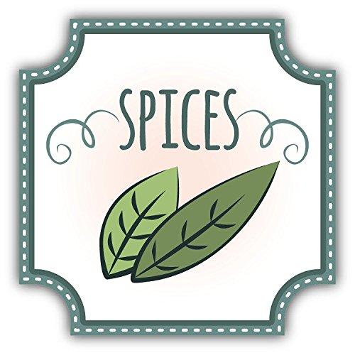 Spices Food Hochwertigen Auto-Autoaufkleber 12 x 12 cm -