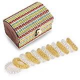 Massage Ring, RiverPool [12er Set] Finger Massage Ring, Akupressurring,Akupressur Ringe um den Stress abzubauen und einen gesunden Körper zu erhalten