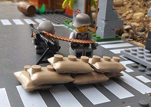 Modbrix 9841 - ✠ Deutsche MG Stellung mit MG42 Maschinengewehr, Sandsäcken und custom Wehrmacht Soldaten aus original Lego© Teilen ✠ thumbnail