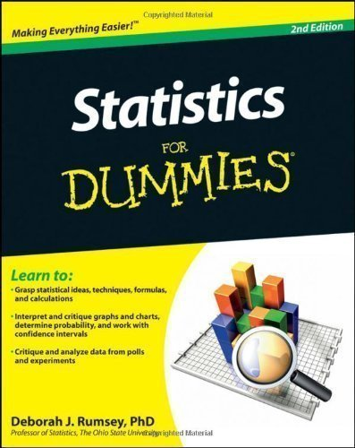 Statistics For Dummies (For Dummies (Lifestyles Paperback)) by Rumsey, Deborah 2nd (second) Edition (2011)