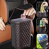 YIDAINLINE Auto Mülleimer mit Deckel, hängender Wasserdicht Auslaufsicher Abfalltasche Auto, Organizer Abfall Tasche für Unterwegs Wasserdichter Minibehälter Auslaufsicherer