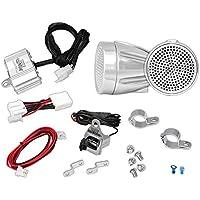 Pyle PLMCA60 300W ATV Snowmobile/moto con Supporto e amplificatore doppio manico, in alluminio pressofuso, MP3 (2 Canali 300w Moto)