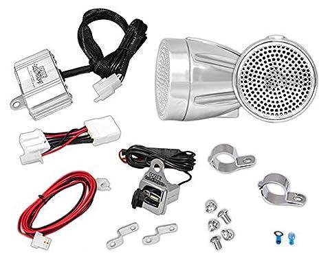 Enceintes pour Moto / Scooter / Vélo / Motoneige PYLE. Amplificateur iPod / MP3 de (2 Canali 300w Moto)