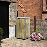 Hide Mülltonnenbox, Mülltonnenverkleidung, Gerätebox Natur // 60x63x115 cm (BxTxH) // Aufbewahrungsbox für 1 Mülltonne 140l