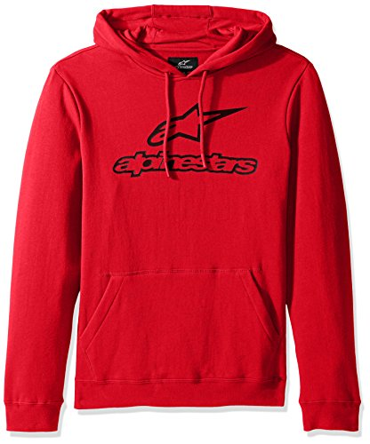 Alpinestars Herren Fleece Always Logo Pullover Hoodie Classic Fit Rot