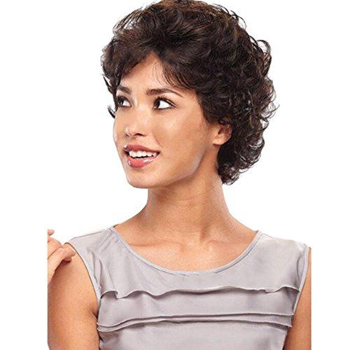 Beatayang Nouvelle Perruque Femme Noir Cheveux courts