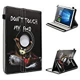 UC-Express Archos Core 101 3G Tablet Hülle Tasche Schutzhülle Case Schutz Cover 360° Drehbar 10.1 Zoll Etui, Farbe:Motiv 3