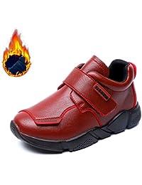 Niños Zapatos De Cordones Chicos Zapatos de Vestir Zapatos con Velcro Infantiles Mocasines para Niños Negro