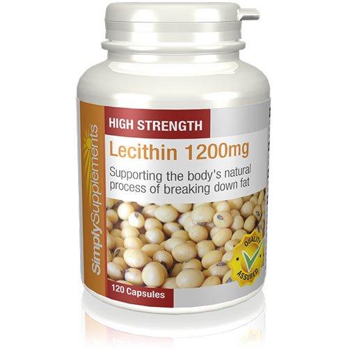 Lécithine 1200mg | Favorise la perte de poids | 120 Gélules | Simply Supplements