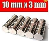 ketpriz Big Bargain 50magneti in neodimio N42rare Earth Strong 10mm x 3mm Craft models