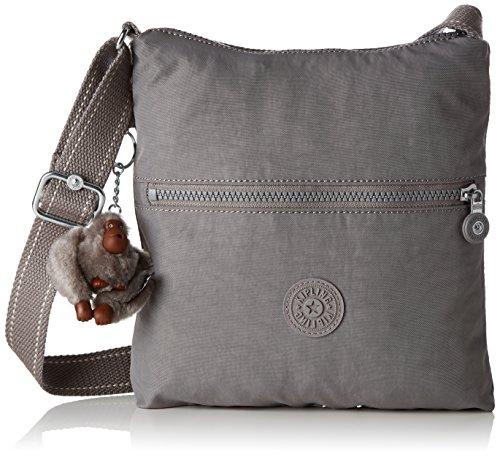 Kipling Zamor, Women's Cross-Body Bag, Grau (Urban Grey C), 25.5x24.5x4 cm (B x H T)