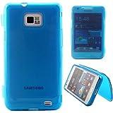 Semoss 1 x Bleu TPU Etui Housse Coque Folio Silicone Gel pour Samsung Galaxy S2 GT-i9100