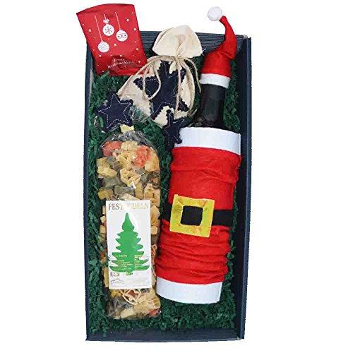 Geschenkset Weihnachten // Weihnachtsnudeln + Wein