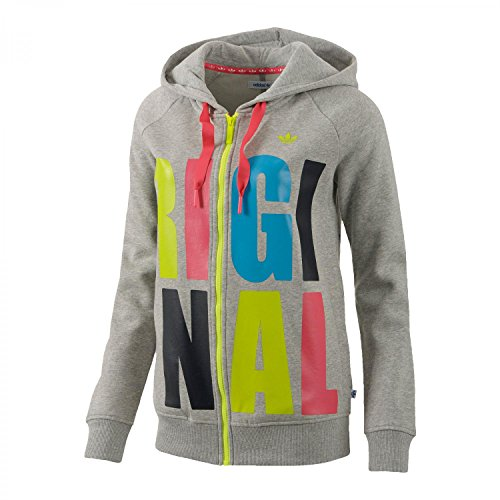 adidas Damen Kapuzenjacke Original Hooded Medium Grey Heather