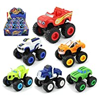 Blaze and The Monster Machine, Womdee Racing Toy Car Truck Pack of 6 With Blaze, Stripes, Crusher, Pickle, Zeg & Darrington Best Gift For Kids