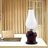 DOXUNGO Retro Vintage Blow LED lamp,Tischlampe, Klassische Lampe,LED Stimmungslampe, Nostalgie lampe, romantische Atmosphäre, Nachttischlampe, Outdoor Camping lampe, mit Lithium-Akku USB-Kabel (Rot)