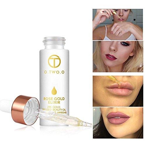 SOMEAS 24 karat Rose Gold Elixier Lip Flüssige Foundation Feuchtigkeitsspendende Klare Remover Dead Haut Anti-falten Enhancer Lippen Ätherisches Öl