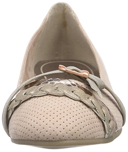 Marco Tozzi - 22100, Ballerine Donna Rosa (Pink (ROSE COMB 596))