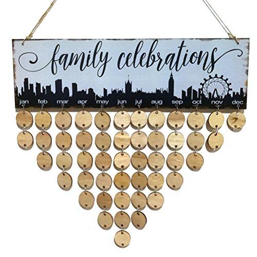 Vosarea Hölzerne Erinnerungskalender Plaketten-Familienfeiern für besonderen Anlass