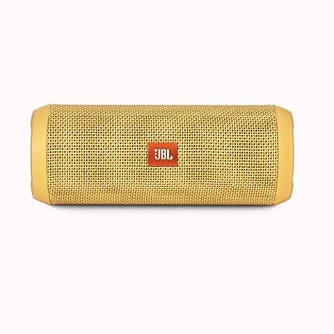 JBL Flip 3 - Altavoz portátil (Bluetooth, Micro USB, 3000 mAh) color amarillo