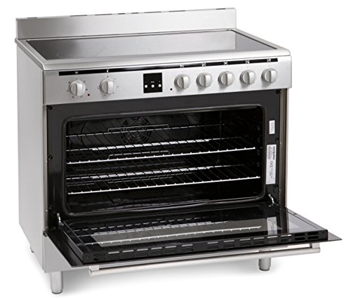 Montpellier MR90CEMX 90cm Electric Single Oven Range Cooker With Ceramic Hob Stainless Steel