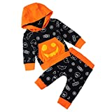 RAISEVERN Infant Baby Jungen Trainingsanzug Langarm Tasche Sweatshirt Trainingsanzug Lustige Kürbis Hoodie Und Pant Kleidung Set Outfits