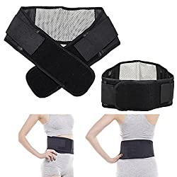 Generic Adjustable Tourmne Self-heating Magnetic Therapy Waist Belt Lumbar Support Back Waist Support Brace Double Banded aja lumbar