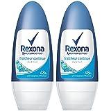 Rexona Déodorant Femme Bille Anti Transpirant Fraicheur Continue 50ml - Lot de 2