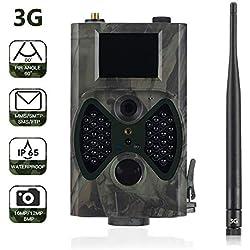 Suntek 3G Cámara de Caza 16MP 1080P Cámara de vigilància de la Vida Silvestre,Cámara de Juego de detección Nocturna sin LED de Brillo de 940nm IR,Lapso de Tiempo,Temporizador,Diseño Impermeable IP65