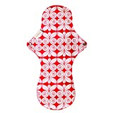 #6: Eco Femme Reusable Sanitary Pads/Cloth Menstural Pads/Washable Cloth Pads - 1 Night Pad per pack 100% Certified organic pure and natural cotton