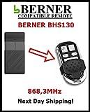 BHS 130Berner Fernbedienung Ersatz mit festen Code 868,3MHz
