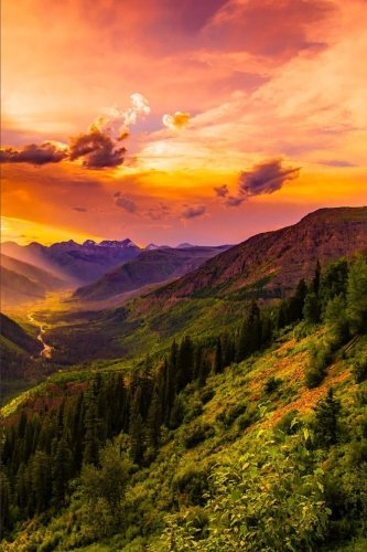 sunset-in-montana-american-west-journal-150-page-lined-notebook-diary