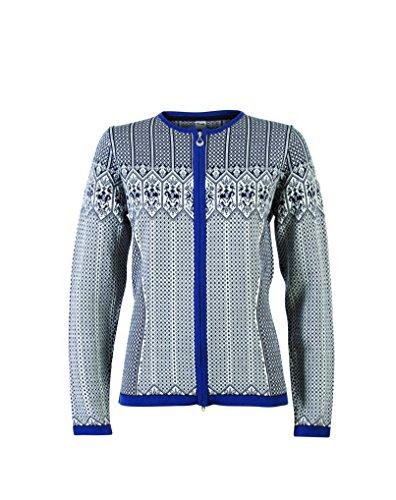 Nordic Wool (Sigrid Women's Jacket Wool-Navy/Off-White, Indigo, Gr. s)