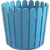 Emsa 512684 Landhaus Bac à Fleurs Rond pour Jardin Polypropylène Turquoise 30 cm