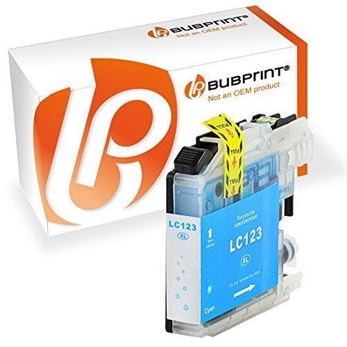 Bubprint Druckerpatrone Cyan kompatibel für Brother MFC-J4410DW MFC-J470DW DCP-J4110DW Drucker LC-123 LC123 mit Chip