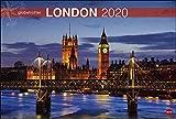 London Globetrotter. Wandkalender 2020. Monatskalendarium. Spiralbindung. Format 58 x 39 cm -