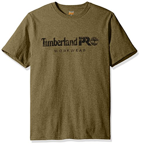 Timberland PRO Men's Cotton Core Short-Sleeve T-Shirt, Burnt Olive, Medium