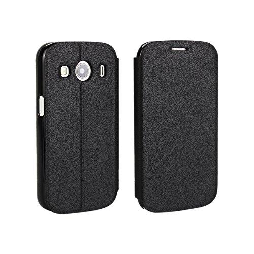 Samsung Galaxy Ace Style LTE G357 Hülle, CaseFirst Leder Handyhülle PU Geldbörse Anti-kratzer Lederhülle Schutzhülle Schutz Stoßfest Bookstyle Wallet Case mit Karten fächer (Schwarz)