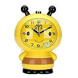 Ho Clocks Kleine Biene Quarz Wecker Timer Snooze Funktion und LED Stille Licht Alarm Clock Nachttisch,Yellow