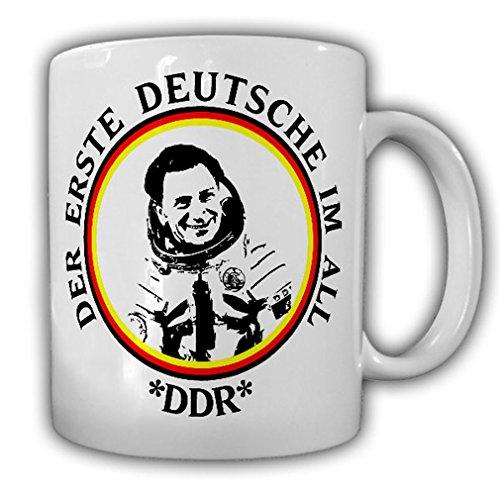 Tasse Sigmund Jähn Kosmonaut DDR NVA Erster Deutscher im All Weltraum #23292