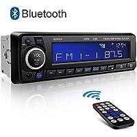 Autoradio Bluetooth Stereo Kimood Stereo Auto Bluetooth con Schermo Grande e Potenza di Uscita 4 * 60 W, Supporto 18 Stazioni di Memoria/AUX/MP3/WMA/FM Lettore/Telecomando