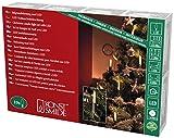 Konstsmide 1068-020 LED Baumkette mit Schaftkerzen/für Innen (IP20) / VDE geprüft / 230V Innen / 10 warm weiße Dioden/grünes Kabel