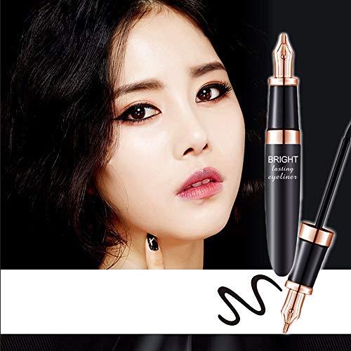 NEEDOON Eyeliner Schwarz Wasserdicht Eyeliner Liquid Eye Liner Stift Bleistift Make-up Schönheit Kosmetik (A)