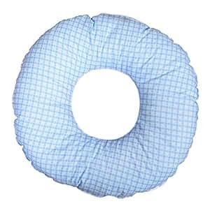 donut kissen ringkissen ringf rmiges sitzkissen sitzring druckentlastend muster blaue karos. Black Bedroom Furniture Sets. Home Design Ideas