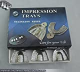 Stainless Steel Edentulous Impression Trays Perforated 6 pcs Surgical DDP Instru by DDP