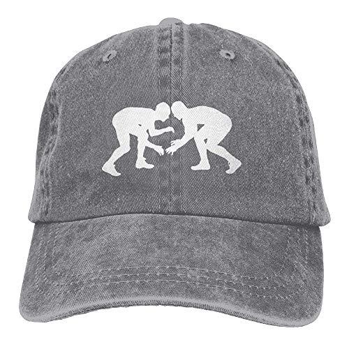 hgfyef Unisex Baseball Cap Denim Hat Wrestling Silhouette Adjustable Snapback Cricket Cap DIY 4766