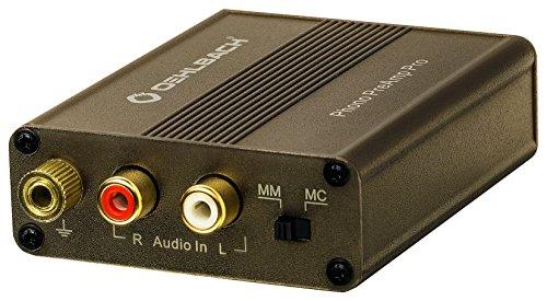 Oehlbach Phono PreAmp Pro | Phono-Vorverstärker | für Plattenspieler mit MM- oder MC-Tonabnehmer, kompakt & leistungsstark - metallic braun