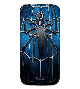 ColourCraft Spider Design Back Case Cover for MICROMAX CANVAS MAGNUS A117